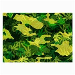 Marijuana Camouflage Cannabis Drug Large Glasses Cloth