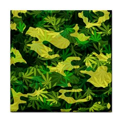 Marijuana Camouflage Cannabis Drug Face Towel