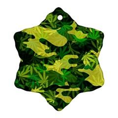Marijuana Camouflage Cannabis Drug Ornament (Snowflake)