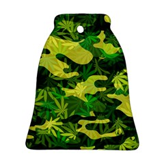 Marijuana Camouflage Cannabis Drug Bell Ornament (two Sides)