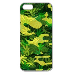 Marijuana Camouflage Cannabis Drug Apple Seamless Iphone 5 Case (clear)