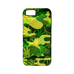 Marijuana Camouflage Cannabis Drug Apple Iphone 5 Classic Hardshell Case (pc+silicone)