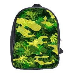 Marijuana Camouflage Cannabis Drug School Bags (XL)