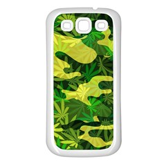 Marijuana Camouflage Cannabis Drug Samsung Galaxy S3 Back Case (White)