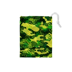 Marijuana Camouflage Cannabis Drug Drawstring Pouches (small)
