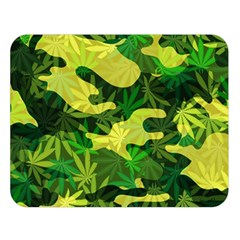 Marijuana Camouflage Cannabis Drug Double Sided Flano Blanket (Large)