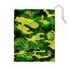 Marijuana Camouflage Cannabis Drug Drawstring Pouches (extra Large)