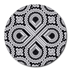 Pattern Tile Seamless Design Round Mousepads