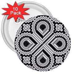 Pattern Tile Seamless Design 3  Buttons (10 Pack)