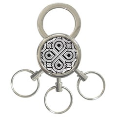 Pattern Tile Seamless Design 3 Ring Key Chains