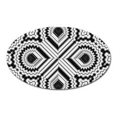 Pattern Tile Seamless Design Oval Magnet