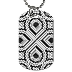 Pattern Tile Seamless Design Dog Tag (One Side)
