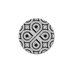 Pattern Tile Seamless Design Golf Ball Marker (4 pack)