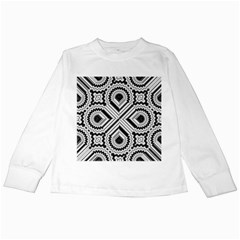 Pattern Tile Seamless Design Kids Long Sleeve T Shirts