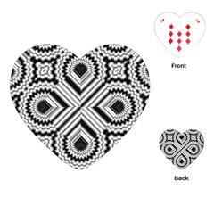 Pattern Tile Seamless Design Playing Cards (Heart)