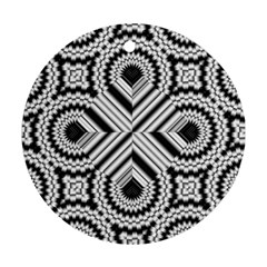 Pattern Tile Seamless Design Round Ornament (Two Sides)