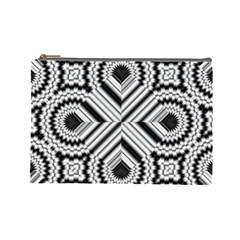 Pattern Tile Seamless Design Cosmetic Bag (large)