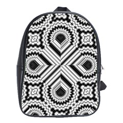 Pattern Tile Seamless Design School Bags(Large)