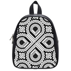 Pattern Tile Seamless Design School Bags (Small)