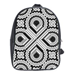 Pattern Tile Seamless Design School Bags (xl)