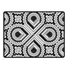 Pattern Tile Seamless Design Double Sided Fleece Blanket (small)