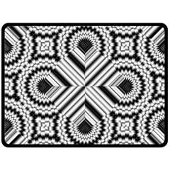 Pattern Tile Seamless Design Double Sided Fleece Blanket (large)