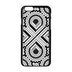 Pattern Tile Seamless Design Apple Iphone 6/6s Black Enamel Case
