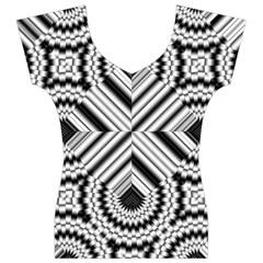 Pattern Tile Seamless Design Women s V-Neck Cap Sleeve Top