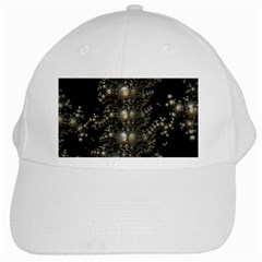 Fractal Math Geometry Backdrop White Cap