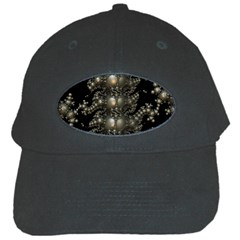 Fractal Math Geometry Backdrop Black Cap