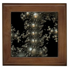Fractal Math Geometry Backdrop Framed Tiles