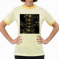 Fractal Math Geometry Backdrop Women s Fitted Ringer T Shirts