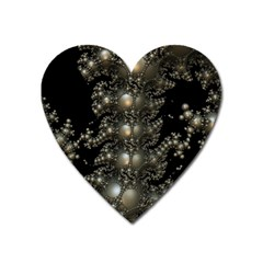 Fractal Math Geometry Backdrop Heart Magnet