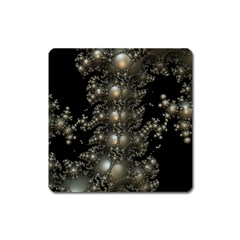 Fractal Math Geometry Backdrop Square Magnet