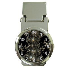 Fractal Math Geometry Backdrop Money Clip Watches
