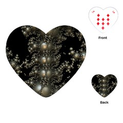 Fractal Math Geometry Backdrop Playing Cards (heart)
