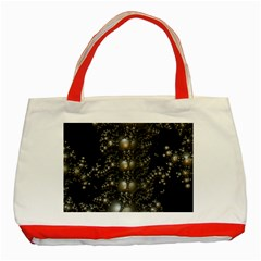 Fractal Math Geometry Backdrop Classic Tote Bag (red)
