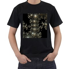 Fractal Math Geometry Backdrop Men s T Shirt (black)