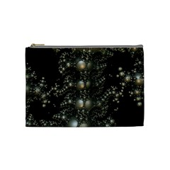 Fractal Math Geometry Backdrop Cosmetic Bag (medium)