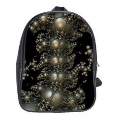 Fractal Math Geometry Backdrop School Bags(Large)