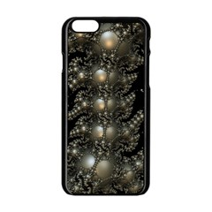Fractal Math Geometry Backdrop Apple Iphone 6/6s Black Enamel Case