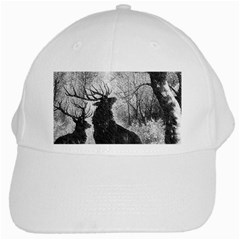 Stag Deer Forest Winter Christmas White Cap