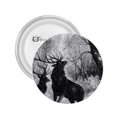 Stag Deer Forest Winter Christmas 2.25  Buttons