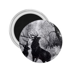 Stag Deer Forest Winter Christmas 2.25  Magnets