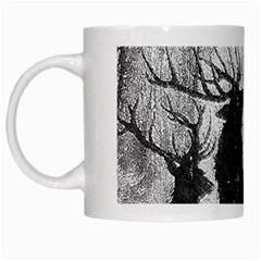Stag Deer Forest Winter Christmas White Mugs