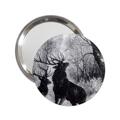 Stag Deer Forest Winter Christmas 2 25  Handbag Mirrors