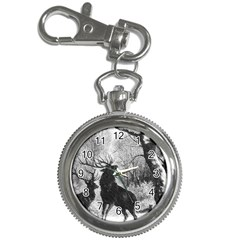 Stag Deer Forest Winter Christmas Key Chain Watches
