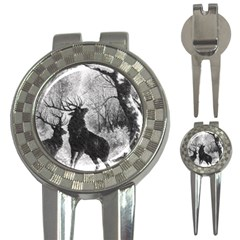 Stag Deer Forest Winter Christmas 3-in-1 Golf Divots
