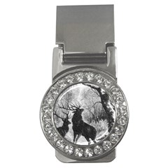Stag Deer Forest Winter Christmas Money Clips (CZ)
