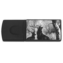 Stag Deer Forest Winter Christmas USB Flash Drive Rectangular (1 GB)